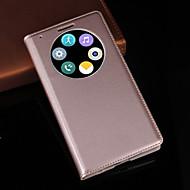 のために LGケース スタンド付き / ウィンドウ付き ケース フルボディー ケース ソリッドカラー ハード PUレザー LG LG G3