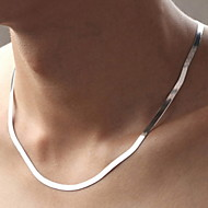 Unisex Silver/Titanium Necklace