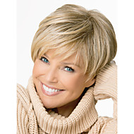 New Style High Quality Capless Short Wavy Mono Top Human Hair Wigs Four Colors to Choose
