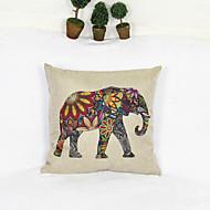 créative couverture taie d'oreiller canapé décoration de la maison de coussin de style d'éléphant (17 * 17 pouces)