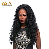 """8""""-26"""" Peruvian Virgin Hair Kinky curly Glueless Full Lace Wig Color Black With Baby Hair for Black Women"""