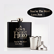 Gift Groomsman Father's Gift Personalized 4Pieces  Stainless Steel 6-oz Flask Gift Set