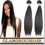 """3 stk / lot 8 """"-34"""" eurasiske remy hår skud farve 1b uforarbejdede menneskehår silkeagtig lige vævninger"""