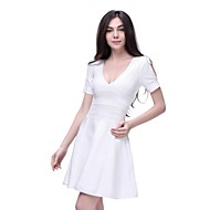 Dress A Line/V-Neck/Casual Spandex/Nylon/Rayon Evening Bandage Dress For Party