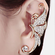 Diamond Butterfly Alloy Earring Ear Cuffs Wedding/Party/Daily/Casual 1pc