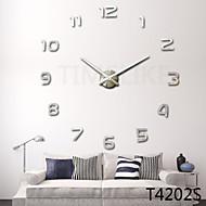 עיצוב בית שעון קיר גדול עיצוב אופנת שעון DIY 3D