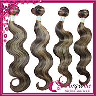 "4Pcs/lot 16""-24"" Brazilian Human Hair Extensions Mix color 4/27 Body Wave Human Hair Weave 100g/bundle"