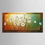 Peint à la main Nature morte / A fleurs/BotaniqueModern Un Panneau Toile Peinture à l'huile Hang-peint For Décoration d'intérieur