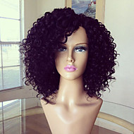 Full Lace Wig 100% Brazilian Human Hair Wig Kinky Curly 10-26inch Natural Color Virgin Hair