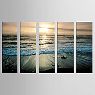 Oil Painting Decoration Abstract  Hand Painted Canvas with Stretched Framed - Set of 5