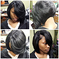 Unprocessed Brazilian Human Hair Wig 10-18inch Bob Straight Natural Color Virgin Hair With Baby Hair