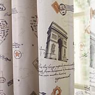 um painel de cortina impressão café apagão