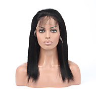 Women Human Hair Brown Wig Straight