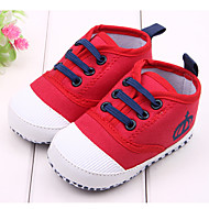 Garçon Fille-Extérieure Habillé Décontracté-Rouge BlancPremières Chaussures-Ballerines-Tissu