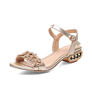 Women's Shoes Low Heel Peep Toe Sandals Office & Career/Dress/Casual Silver/Gold