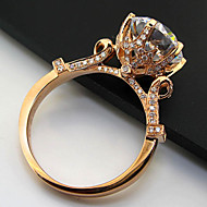 Vintage Jewelry 18K Rose Gold Plated 3CT SONA Simulate Diamond Ring Sterling Silver Luxury Quality Engagement Jewelry