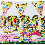 78pcs hercegnő baba születésnapi party dekoráció gyerekek evnent fél által party dekoráció