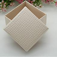 Geschenkboxen ( Elfenbeinweiß/Rot , Perlenpapier ) - Nicht personalisiert -Hochzeit/Babyparty/Quinceañera & Der 16te