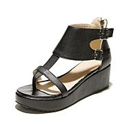 Women's Shoes Wedge Heel Wedges/Slingback Sandals Dress/Casual Black/White