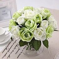 "Bridesmaid Bouquets Round Rose Bouquet 7.87"" Each Bouquet 6 Heads with 3 Buds for Wedding Decoration"