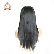 """10 """"26"""" glueless volle Spitzeperücke gerade brasilianisches reines Haar Farbe # 1B natürliche schwarze Babyhaar für schwarze Frauen"""