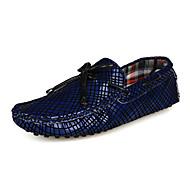 Kényelmes-Lapos-Női cipő-Papucsok & Balerinacipők-Szabadidős Irodai Alkalmi-Mikroszálas-Fekete Kék
