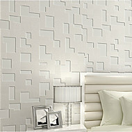 Contemporary Wallpaper Geometric 0.53m*10m Wall Covering Non-woven Paper Wall Art