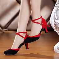 Niet Aanpasbare - Voor dames - Dance Schoenen ( Zwart/Blauw/Multi-Kleur ) - met Naaldhak - en Buikdansen/Salsa/Samba