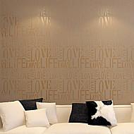 Contemporary Fashion Letter Wallpaper Art Deco 0.53m*10m Wall Covering Non-woven Paper Wall Art