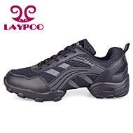 Non Prilagodljiv Men's Plesne cipele Ples Tenisice/Moderni plesovi Koža/Tkanina/sintetički Masivnijom Heel Crn/Sive boje/Zlato