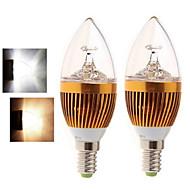 2 pcs Ding Yao E14 15W 5LED COB 400-450LM 2800-3500/6000-6500K Warm White/Cool White Candle Bulbs AC 85-265V