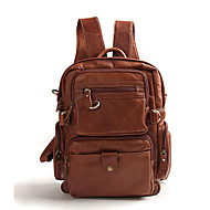 Leather bag male  leather hand casual British version of College Wind backpack