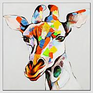 Kézzel festett ÁllatModern / Európai stílus Egy elem Vászon Hang festett olajfestmény For lakberendezési