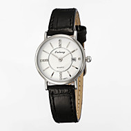 Women's Fashion Watches with Japanese Original Movement & Genuine Leather Strap Calendar Display Disk with Diamond
