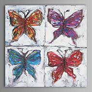 peinture à l'huile moderne main papillon abstrait toile avec cadre étiré peint