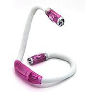 0,5 W 50lm 4xLED hands-free flexibele draagbare boek lezen licht knuffel lamp hals (roze)