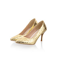 Women's Spring / Summer / Fall Heels Leatherette Outdoor / Office & Career / Casual Stiletto Heel Sparkling Glitter Purple / Silver / Gold