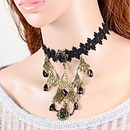 Vintage Crown Gem Drip Pearl Necklace