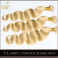 """4pcs mucho 14 """"-30"""" color lejía rubia onda del cuerpo del pelo virginal brasileño remy 613 paquetes de la armadura del pelo humano"""