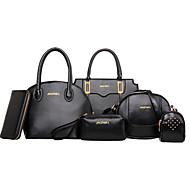 Damen PU Formell / Alltag / Büro & Karriere / Einkauf Umhängetasche / Beutel / Unterarmtaschen / Brieftasche / Geldbörse / Bag SetsWeiß /