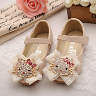 Girls' Shoes Wedding Comfort Round Toe Leather Flats Shoes with Magic Tape More Colors available