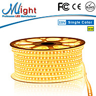 Mlight 10 Meter 72 leds/m 5050 SMD Warm White/White Waterproof/Cuttable 12 W Flexible LED Light Strips AC110-220 V