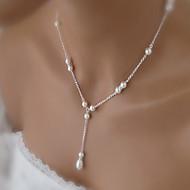 Fashion Wild Small Fresh Teardrop-Shaped Pearl Necklace