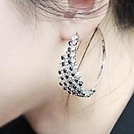 드롭 귀고리 여성용 실버 귀걸이 라인석