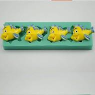 klaun ryby ve tvaru fondant bábovka čokoládu Silikonová forma / dekorace nástroje pro kuchyně pečení