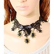 Vintage Three Gem Bowknot Necklace
