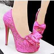 Flerfarvet - Stilethæl - Kvinders Sko - Hæle - Blonder - Hverdag - høje hæle