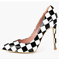 Women's Shoes Patent Leather Stiletto Heel Heels/Pointed Toe Pumps/Heels Wedding/Party & Evening/Dress Black/Red