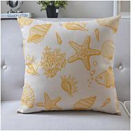 Modern Style Sea Life Cotton/Linen Decorative Pillow Cover