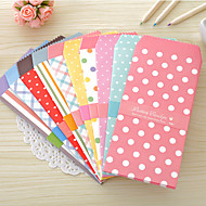 Candy Color Dot Pattern Envelope Set(5 PCS)